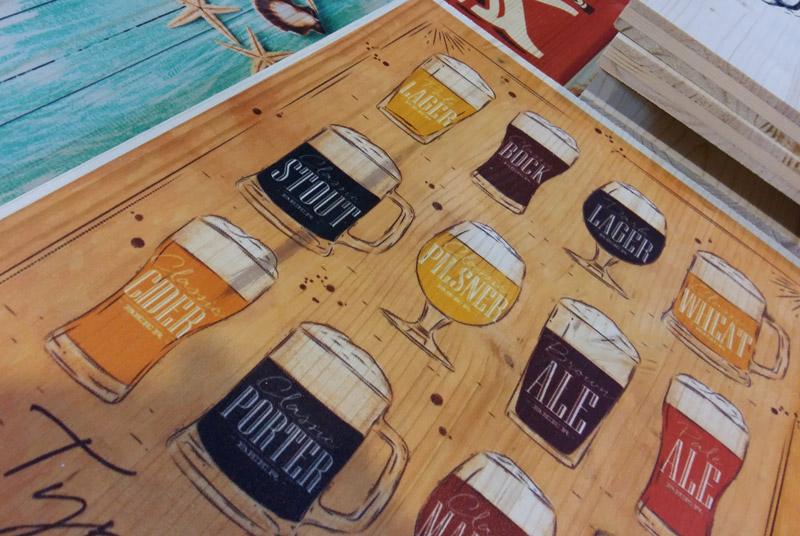 Impresión sobre madera