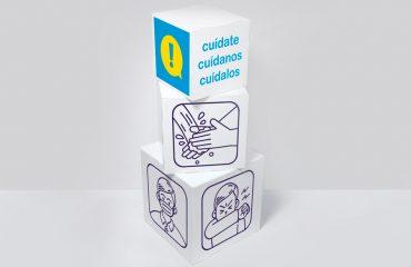 Cubos impresos para comunicación visual