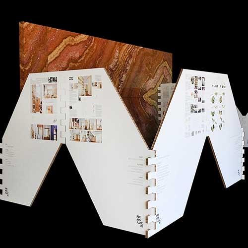 Trasera modular cartón nido de abeja