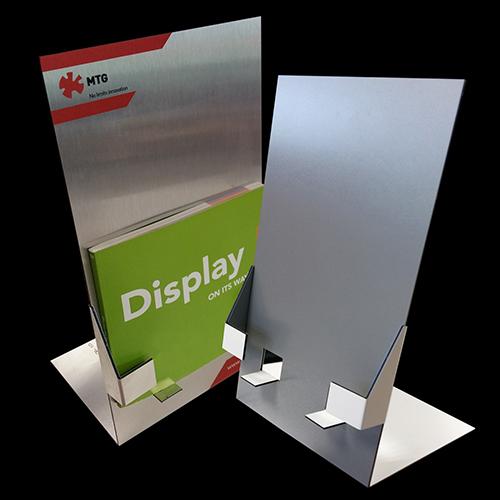 Expositor sobremesa folletos aluminio Dibond