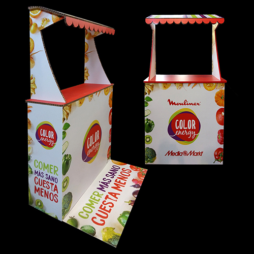 Mostrador kiosco cartón nido de abeja