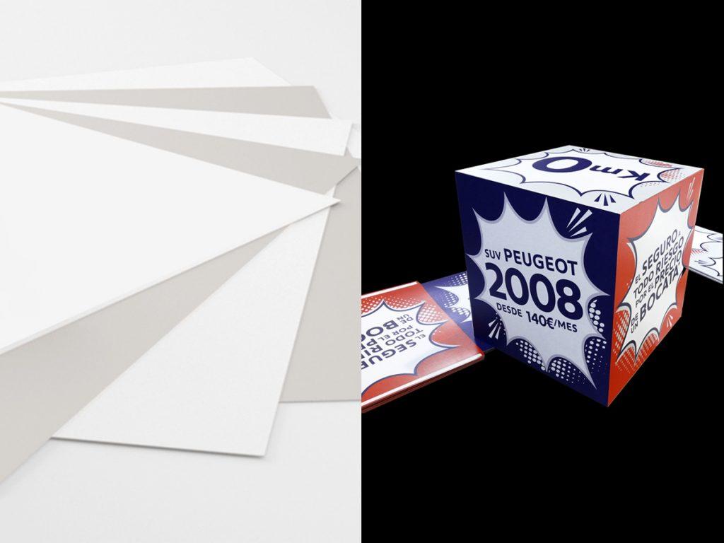 Impresión en rígidos cartón folding
