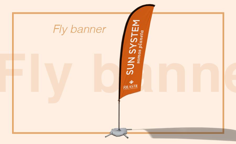 Banderola publicitaria fly banner