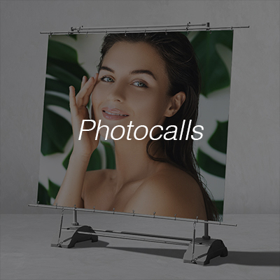 Photocalls impresos para eventos