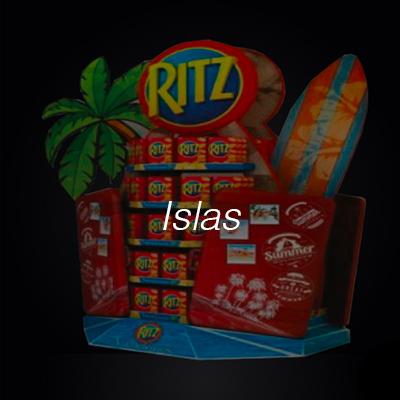 Islas impresas supermercado Gran consumo