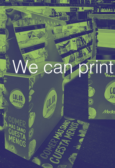 Expositores impresos Gran consumo Impresión digital