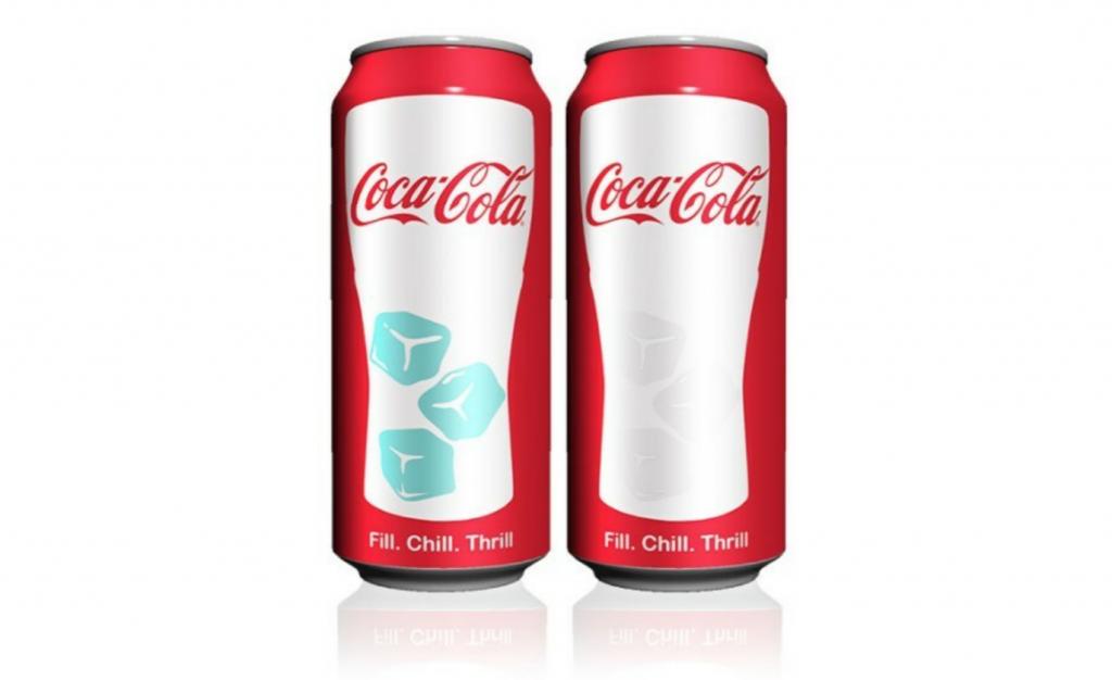 Tintas termocromáticas Coca Cola